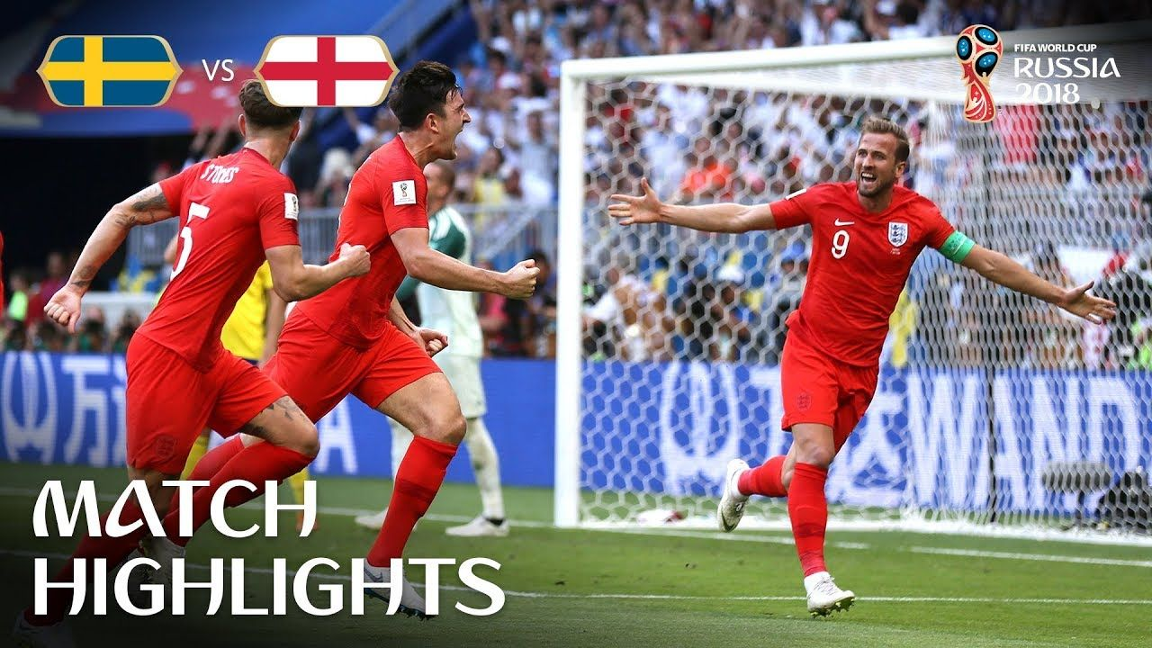 Sweden V England 2018 Fifa World Cup Russia Match 60 World Cup News Fifa World Cup Match Highlights