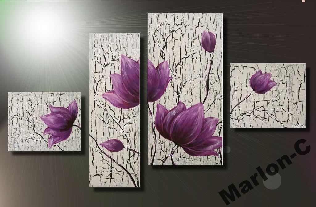MARLON-C Obraz Decoupage MAGNOLIE FIOLET NOWOSC - Zdjęcie na imgED