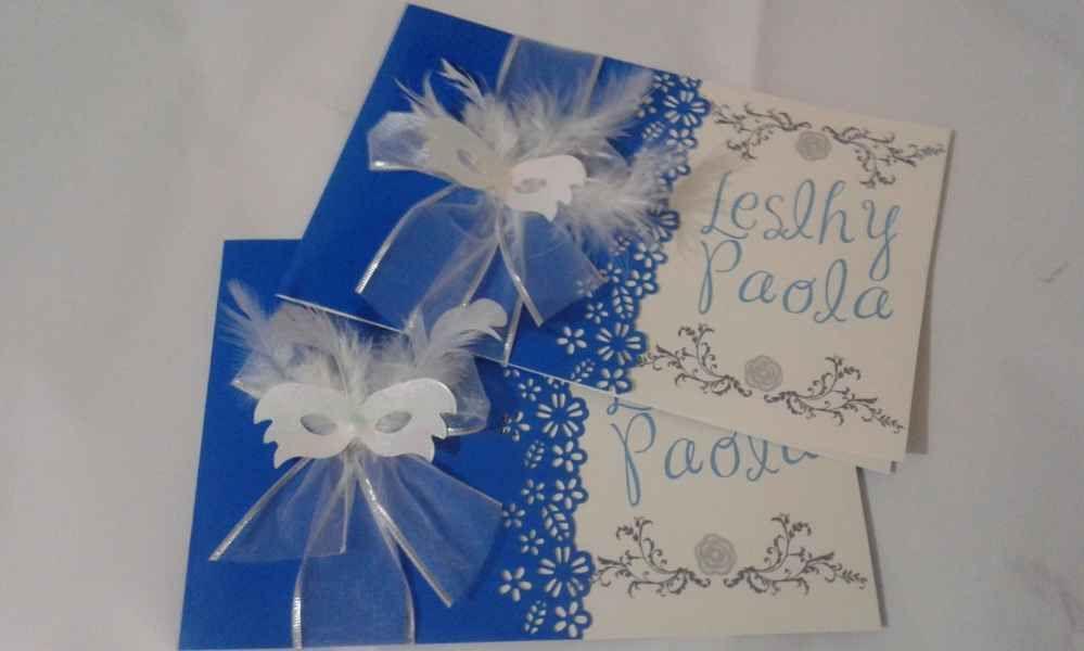 Tarjetas De Invitacion Para 15 Años Azules 8 15 Años