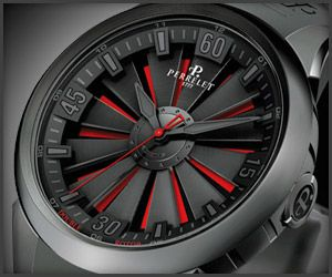 Perrelet's Double Rotor Turbine Watch sports twelve titanium blades that rotate like a jet engine, which not only looks smokin' but provides the automatic movement with energy.