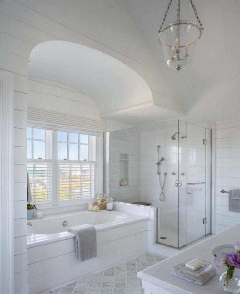 40 Handsome Coastal And Beach Inspired Bathroom Designs Ideas Bathroomdesign Bathroomremodel Bathroomideas Small Bathroom Bathroom Design Inspiration Bathroom Layout