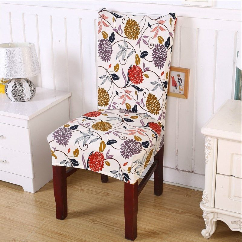 Chair cover flower removable washable short protector