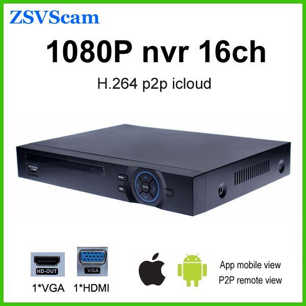 16ch 1080P NVR h 264 network P2P XMeye App Onvif digital cctv video