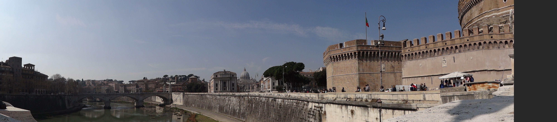 panoramica da Castel Sant'Angelo - Roma