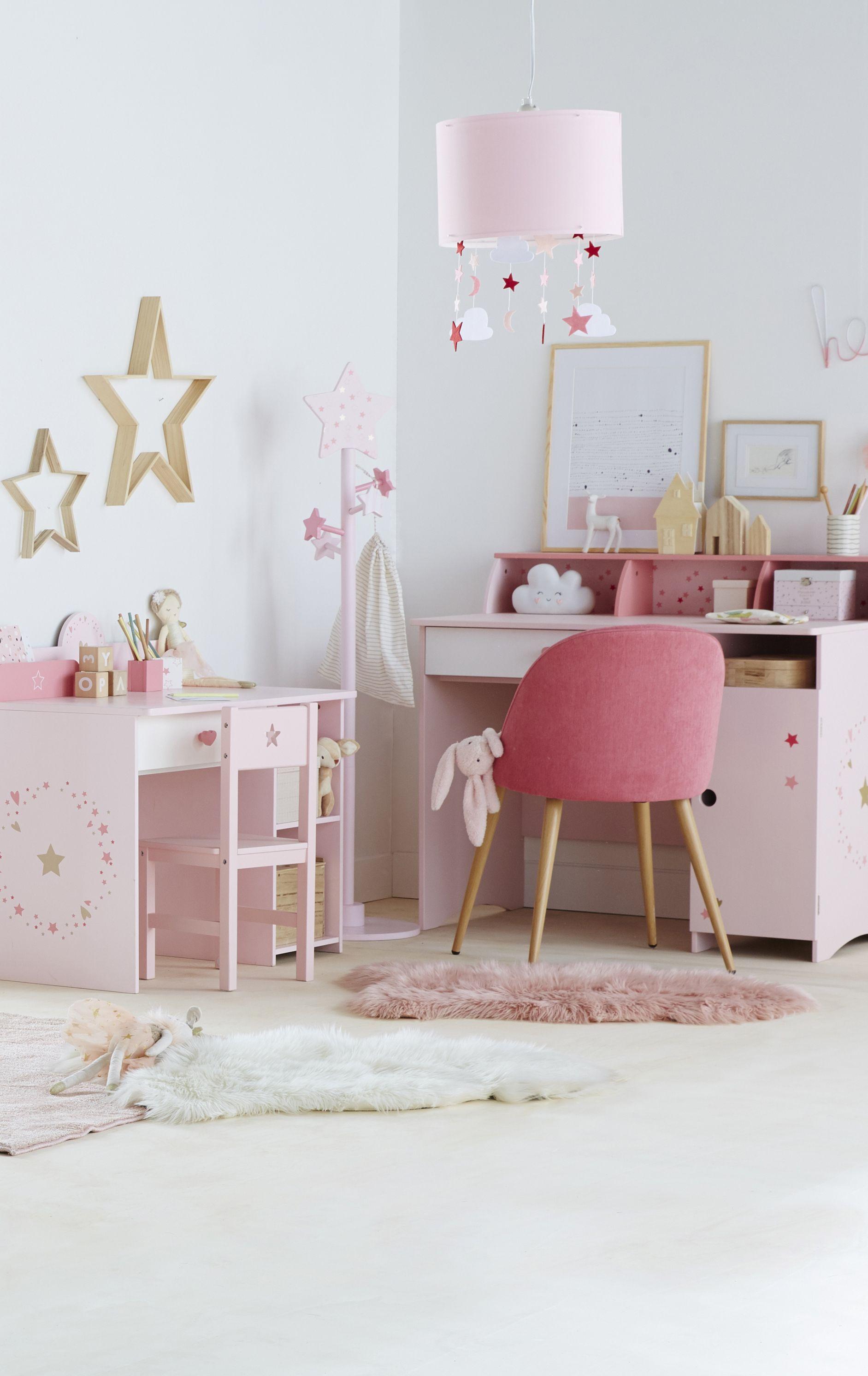 chaise de bureau primaire bubble rose