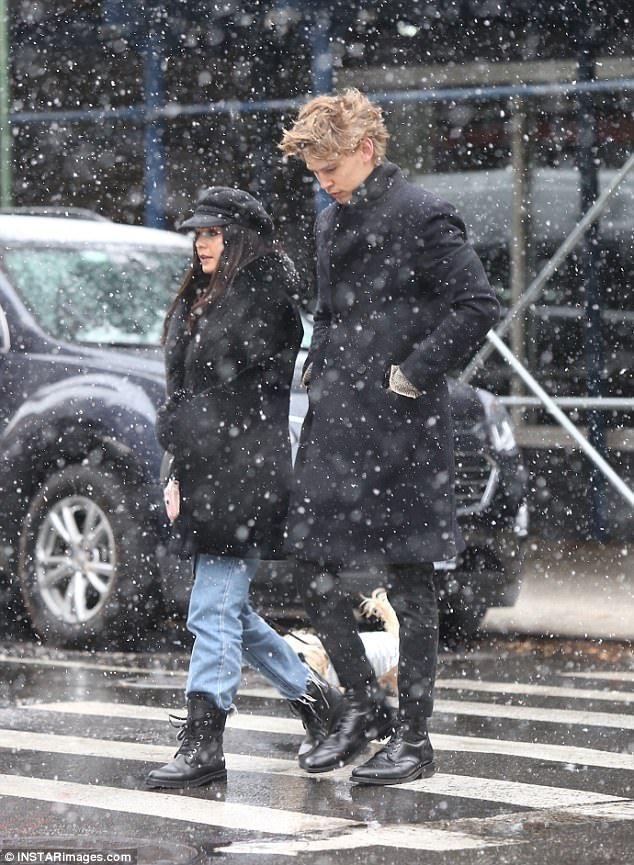 Vanessa Hudgens walks her dog with boyfriend Austin Butler ...