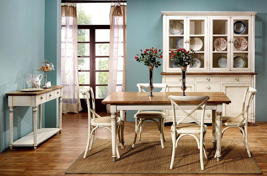 Comedor vintage montpellier iii material madera de olmo - Comedores estilo vintage ...