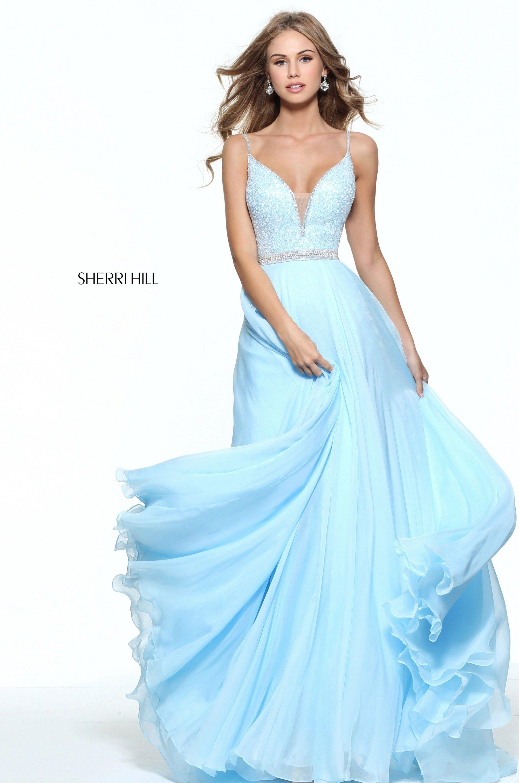 Blue Sherri Hill Prom Dresses 2018