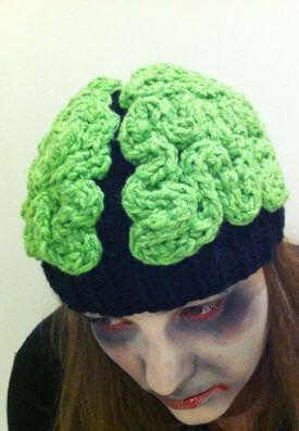 05d3137b39c Knit Zombie Brain Beanie via  weirdgifts