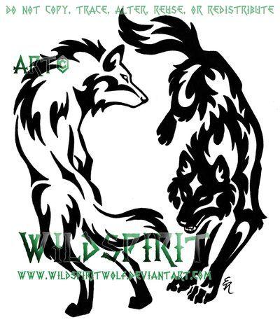 Wolf Tattoo Tribal Wolves Tattoo Tattoo Tribal Two Wolves Wolf Tribal Wolf Tattoo Tribal Animal Tattoos Tribal Wolf