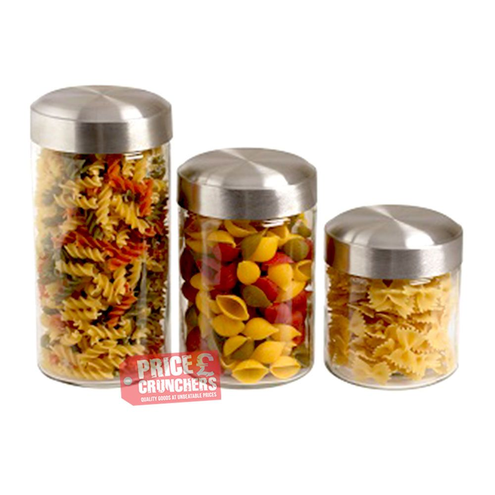 68oz Glass Canister Jar Spaghetti Noodle Pasta Storage Container EBay  sc 1 st  htprofile.com & Glass Spaghetti Storage Container Home Basics NEW Clear Glass 4PC 4 ...