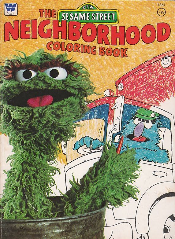 Vintage Sesame Street Coloring Book 1976 My Brother Had This One