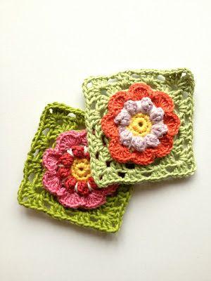 Free Crochet Flower Granny Square Pattern Lovely Crochet