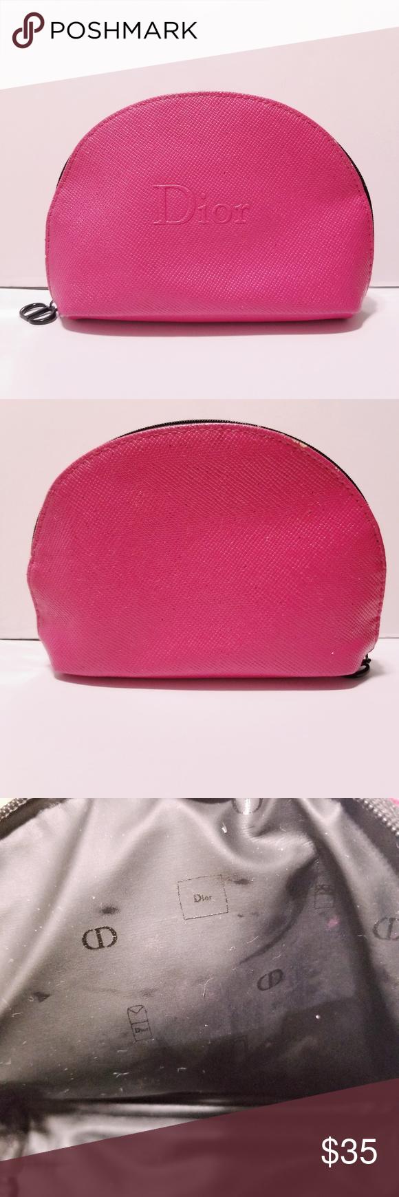 Dior Makeup Cosmetic Bag Pink Dior makeup, Pink bag