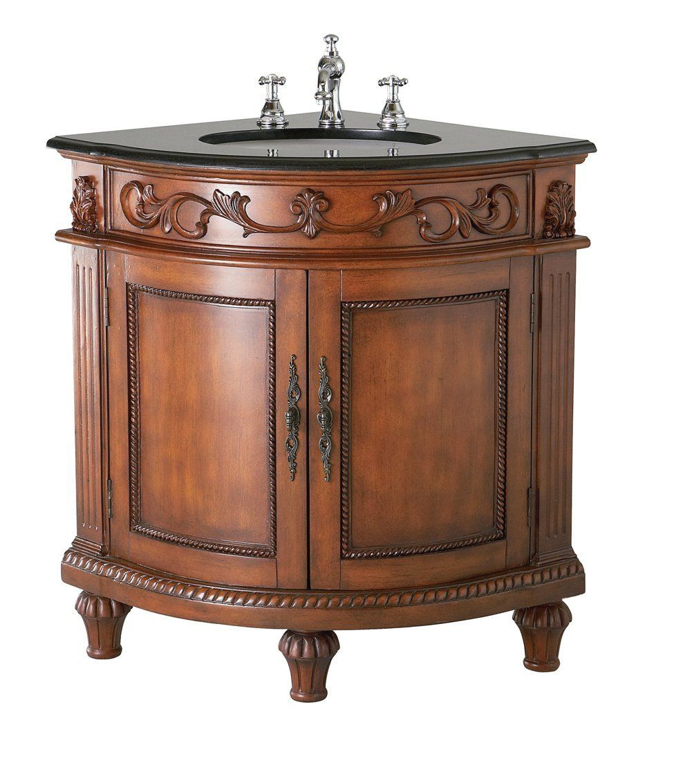 Belle foret carved traditional corner sink vanity french French provincial bathroom vanities