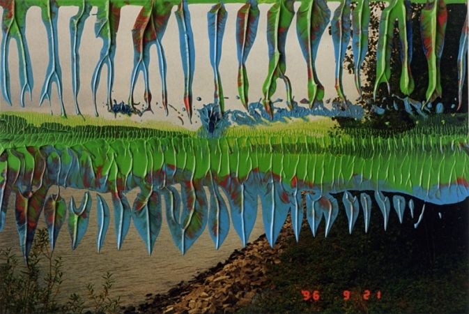 Gerhard Richter, Evening (17 September 98),  1998 9.8 cm x 14.8 cm,  Oil on colour photograph. http://www.gerhard-richter.com/art/search/detail.php?paintid=14394