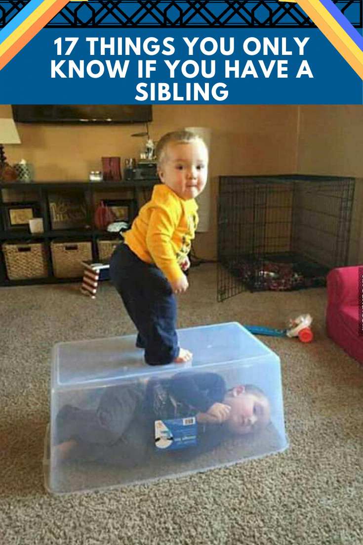 17 Things You Only Know If You Have A Sibling 17 Things You Know If You Have A