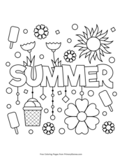 32++ Cute summer coloring pages pdf ideas