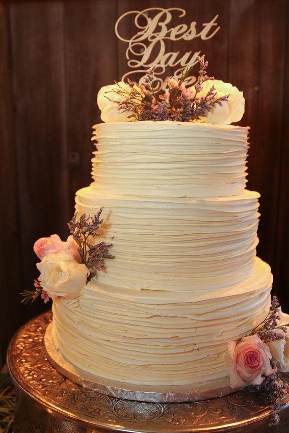 Rustic Textured Buttercream Wedding Cake  WEDDINGS  Pinterest  Wedding cake rustic