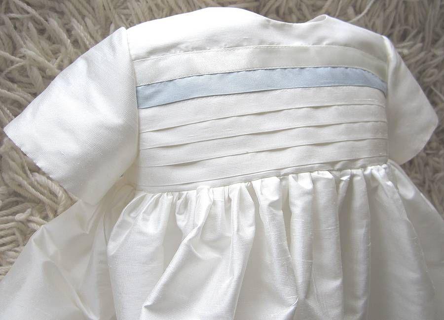 Boys Silk Christening Gown Jack Adore Baby Notonthehighstreet ...