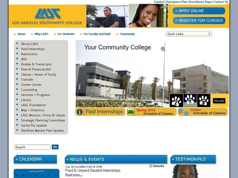 Los Angeles Southwest College University List College Community College
