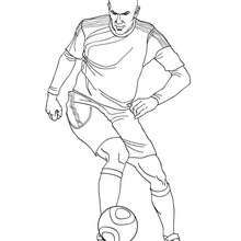 Coloriage Zinedine Zidane Coloriage Coloriage Sport Coloriage