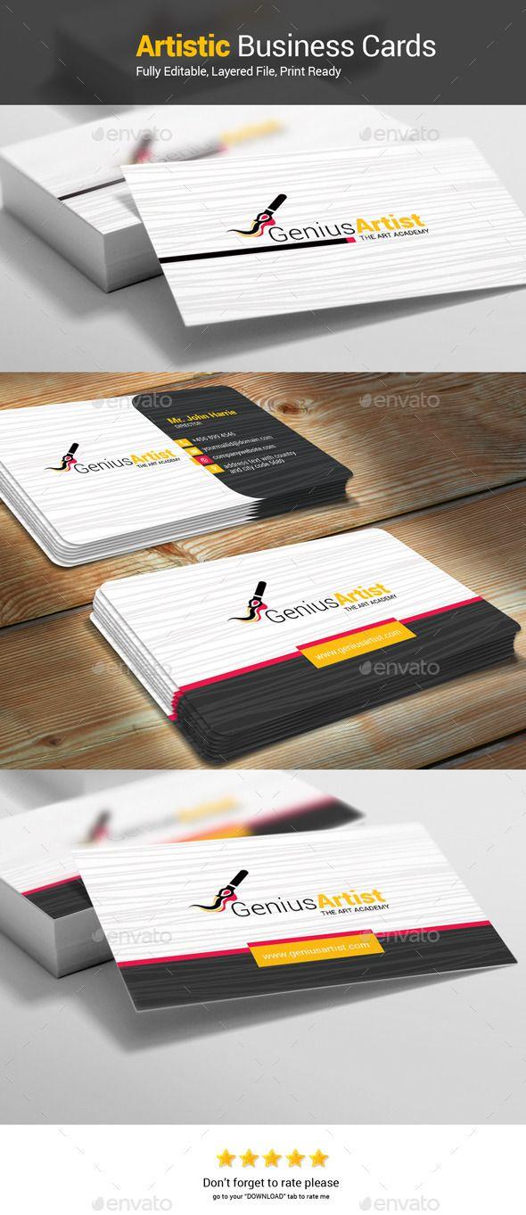 Creative genius artist business card template psd vector eps creative genius artist business card template psd vector eps vector ai download here reheart Gallery