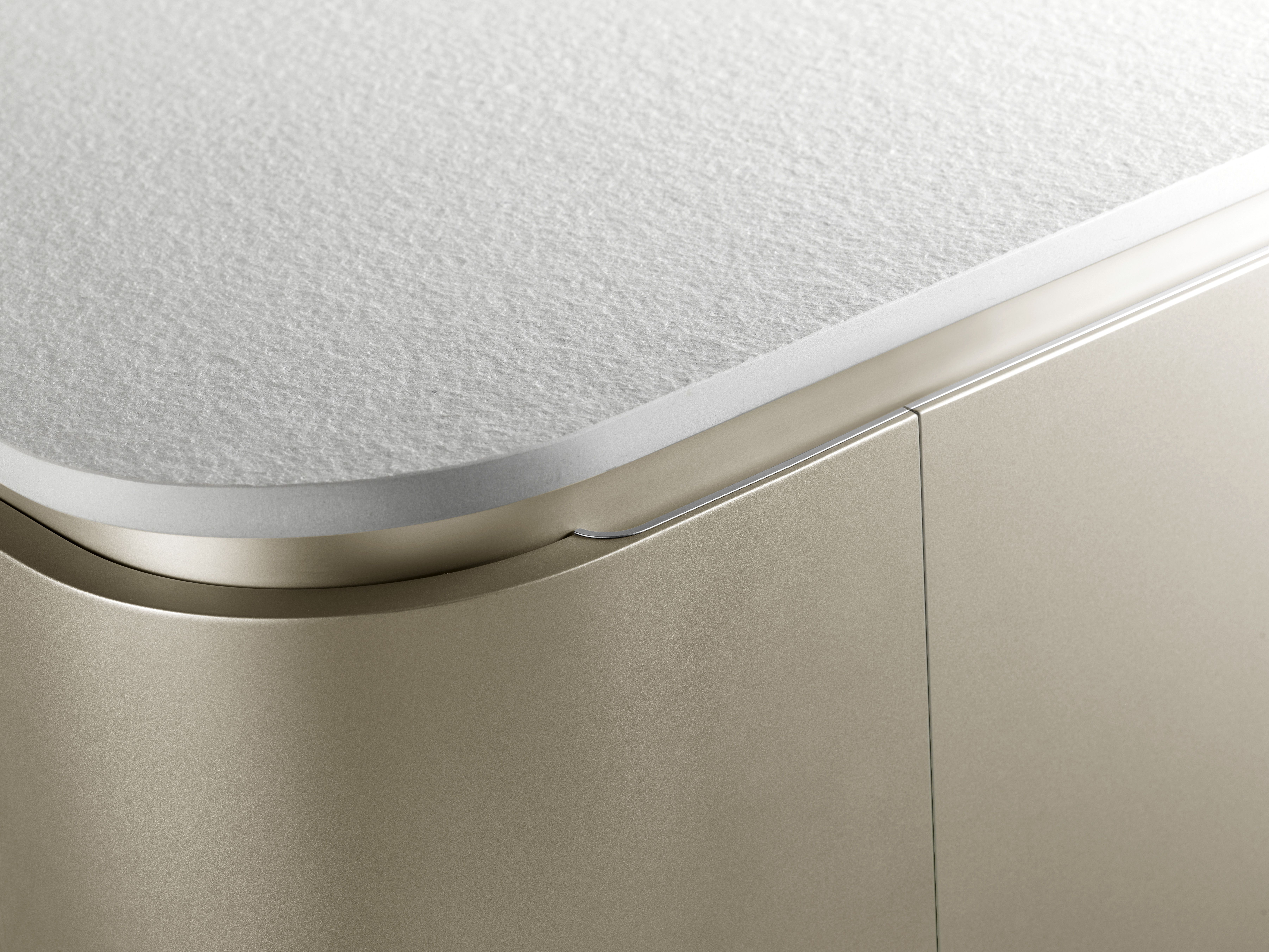The Snaidero BUILT-IN recessed aluminum pull cabinet handle allows ...