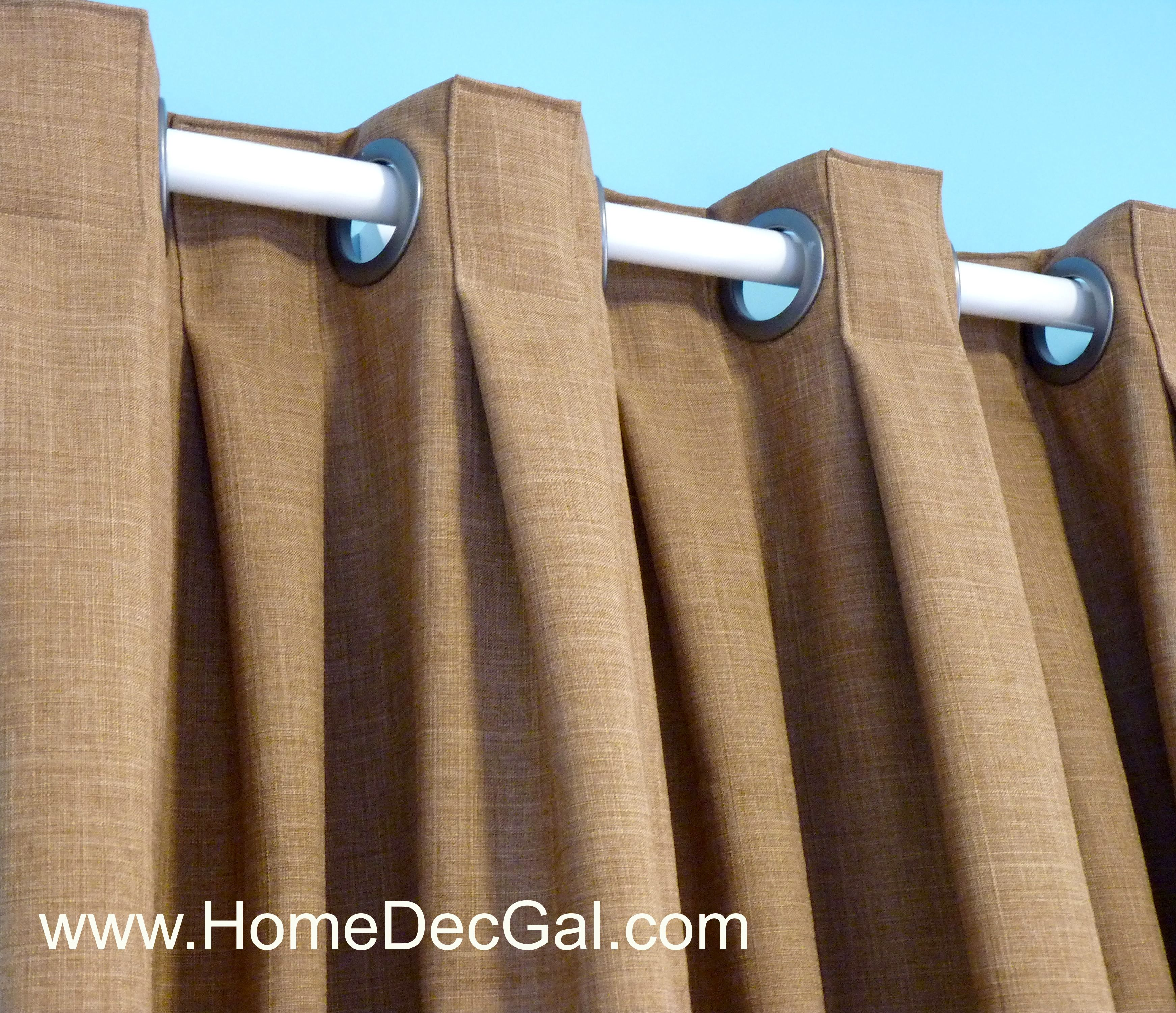 Box pleated grommet drapery designed and created by Susan Woodcock ...