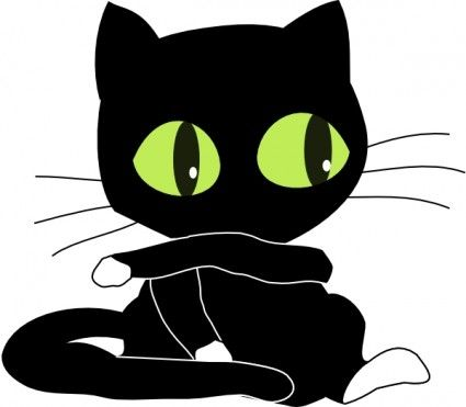 White Cartoon Cat Clip Free Vector For Free Download About 11