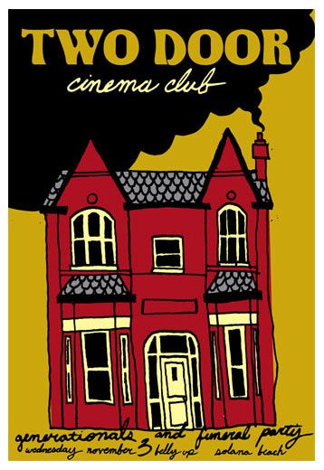 Scrojo Two Door Cinema Club Poster Club Poster Two Door Cinema Club Poster