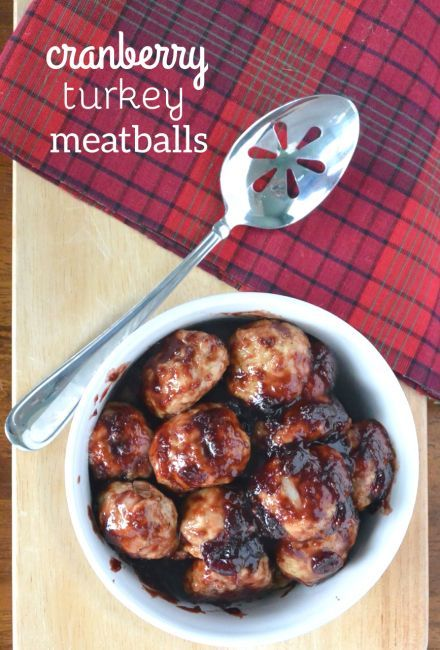 Paleo Cranberry Turkey Meatballs. Turkey meatballs cooked in a spicy and sweet cranberry sauce for an unconventional Thanksgiving starter!