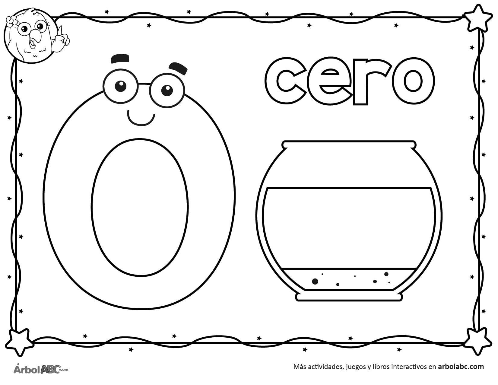 Numero 0 Para Colorear Arbol Abc Numero Para Colorear Libro De Los Numeros Actividades De Matematicas Preescolares