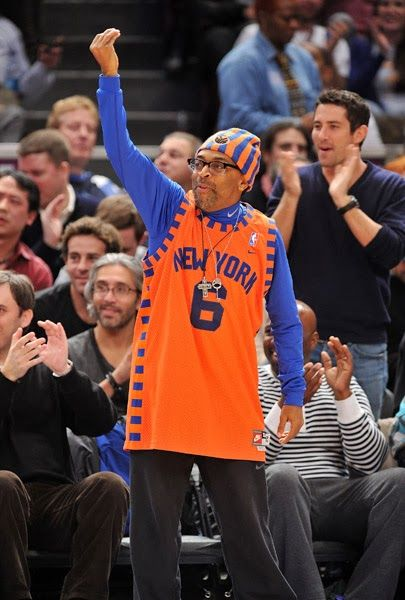 Spikelee S Fan Style On Display Sportsfan Nba Nyc Knicks Orange Blue Basketball Fashion