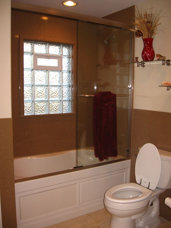 Remodel Bathroom With Window In Shower glass block windows for the bathroom and shower in st. louis | our