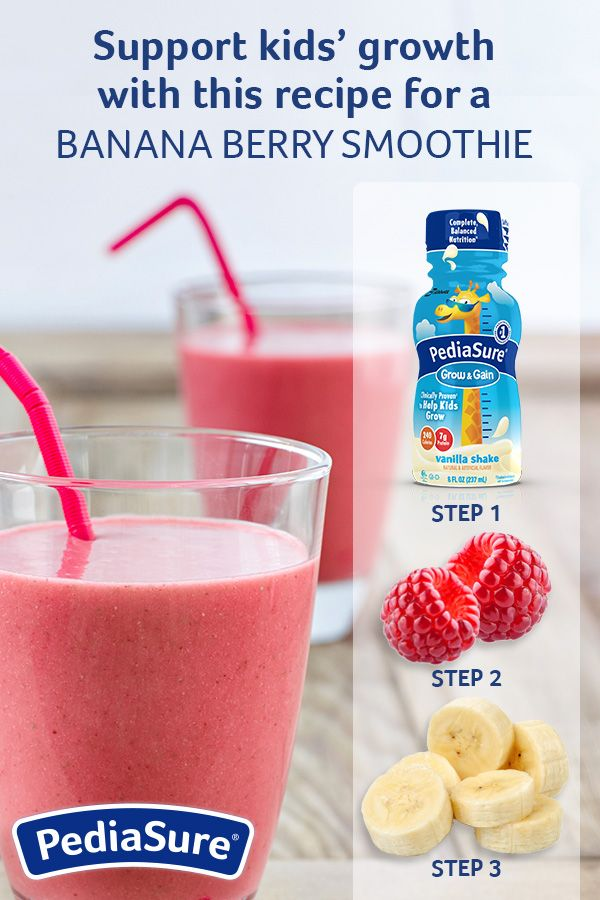 Get this and other great ideas for kids' smoothie recipes made with PediaSure®  Help your child get the nutrients that growing bodies need  is part of Smoothie recipes for kids -
