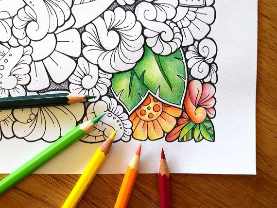 1 Coloring Pages Din A4 Zentangle 174 Inspired Art In