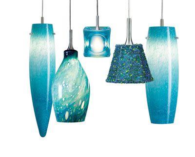 Nora Turquoise Pendants Aqua Pendant Lamp