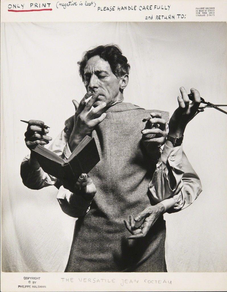 Philippe Halsman, The Versatile Jean Cocteau, 1949, Musée de l'Elysée