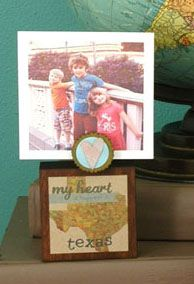 My Heart is Happiest in... Custom Photo Holder Block - a.i. paper design