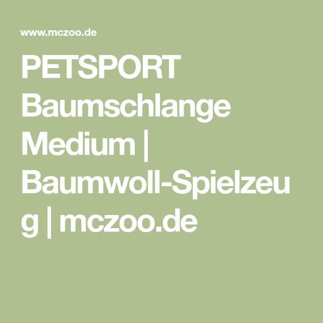 Petsport Baumschlange Medium Baumwolle Medium Langeness