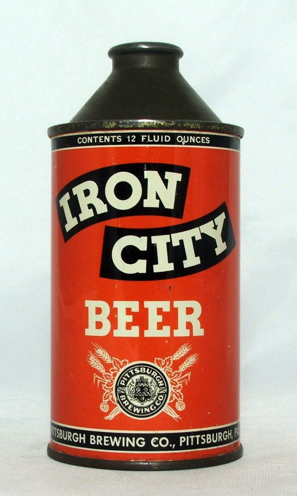 1940 S Iron City Beer12 Oz Cone Top Beer Can Pittsburgh Pa Beer Brands Iron City Beer Beer Can