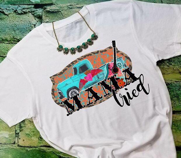 Mama Tried Watercolor T Shirt Boho Chic Shirt Funny T Shirt