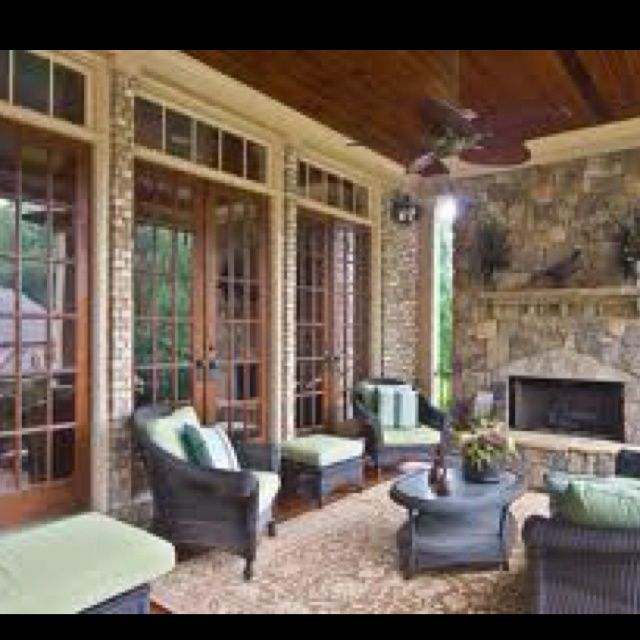 backporch designs Back porch living room Back Porch Designs