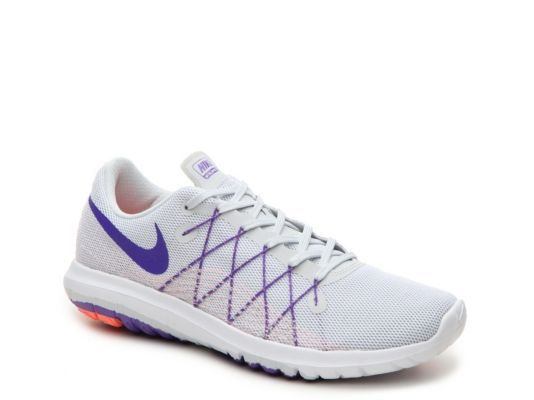 Women s Nike Flex Fury 2 Lightweight Running Shoe - - Grey Purple ... 64433a2fe8