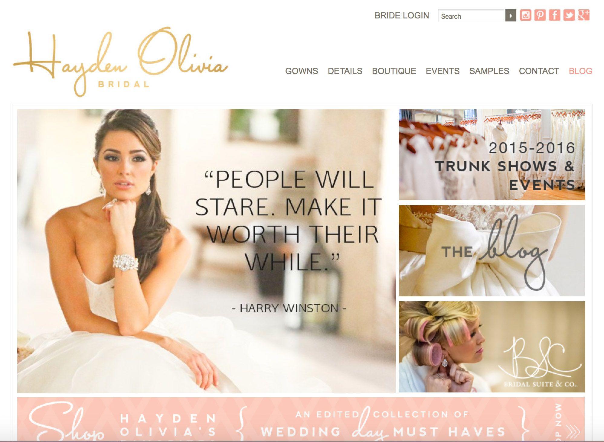 Hayden Olivia Bridal | Charlotte, NC Bridal Shop | Charlotte, NC ...