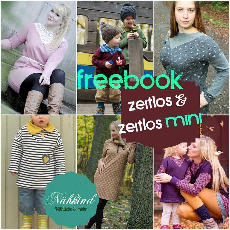 FREEBOOK Zeitlos & Zeitlos Mini Pullover / Kleid mit verschiedenen ...