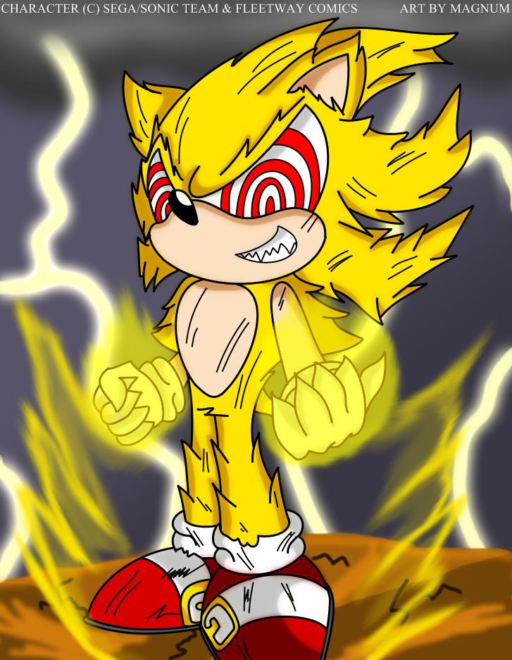 Fleetway Super Sonic Fleetway Super Sonic By Magnum13 On Deviantart Sonic Fan Art Sonic Comic Art