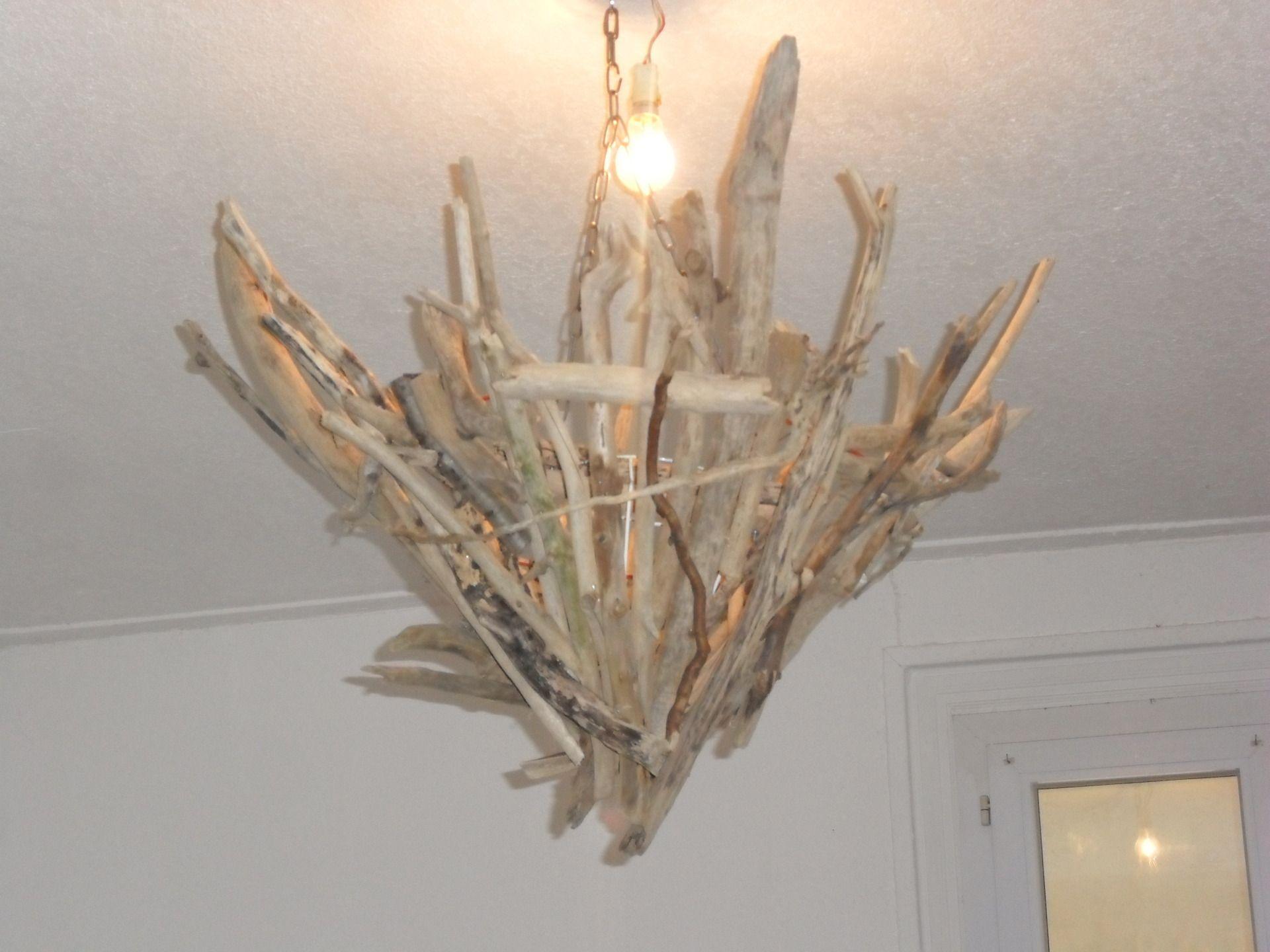 lustre plafonnier bois flott avec chaine luminaires. Black Bedroom Furniture Sets. Home Design Ideas