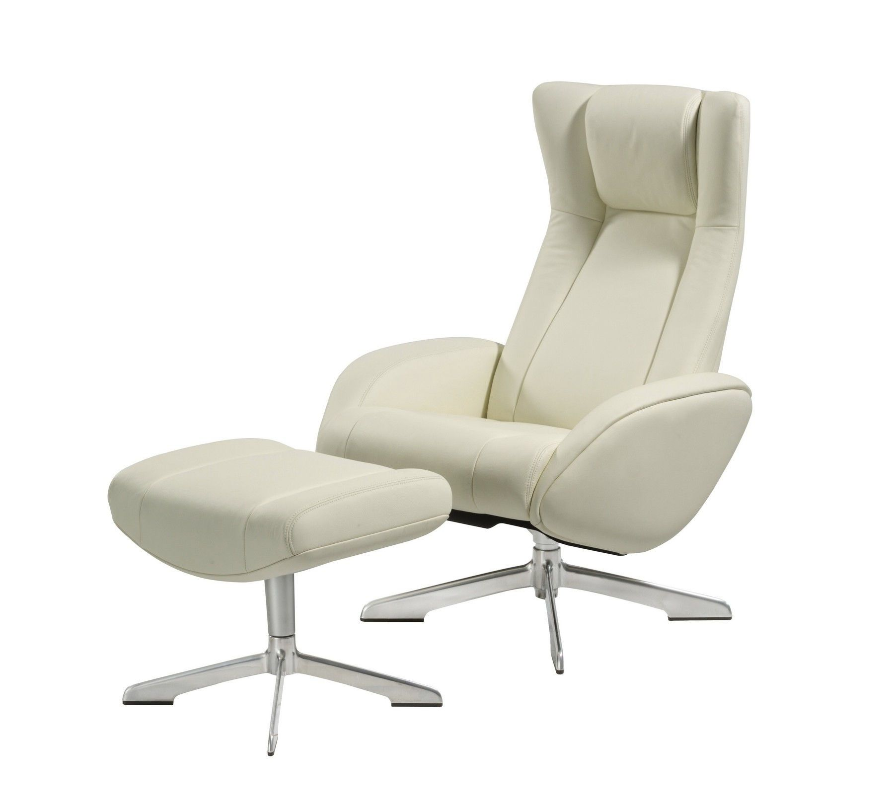 Maya White Chair + Ottoman in 2020 | Recliner with ottoman